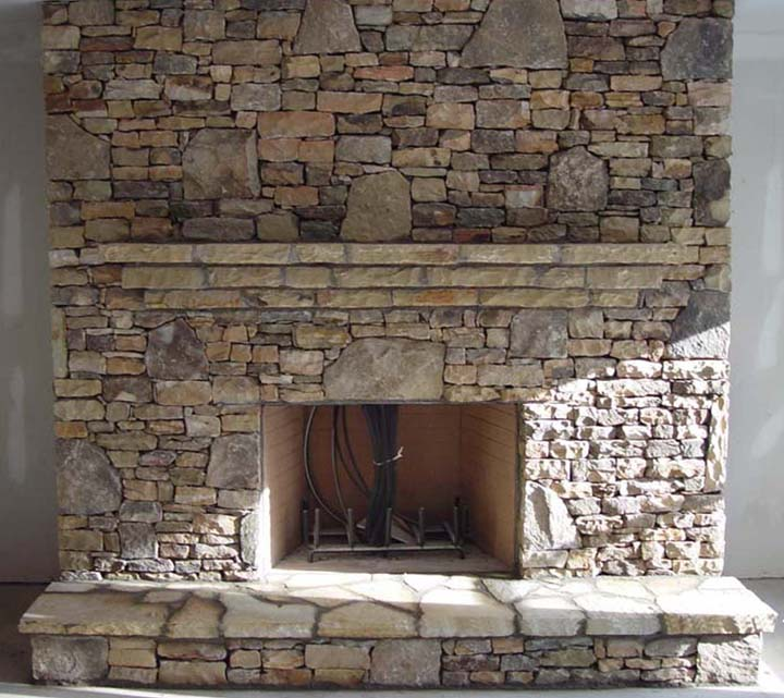 Tennessee Fieldstone Fireplace : Stone design center in atlanta ga the rock yard
