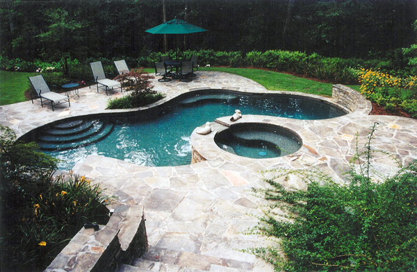 pool patio stone