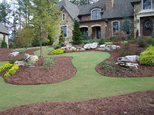 Stone Landscaping Ideas Of Landscape Rocks In Atlanta Ga The Rock Yard
